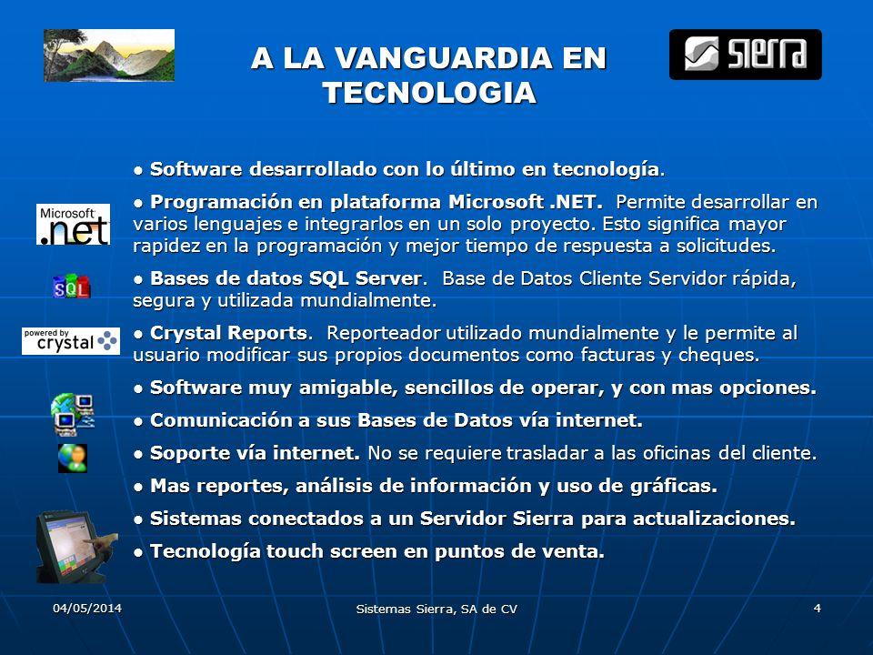 A LA VANGUARDIA EN TECNOLOGIA