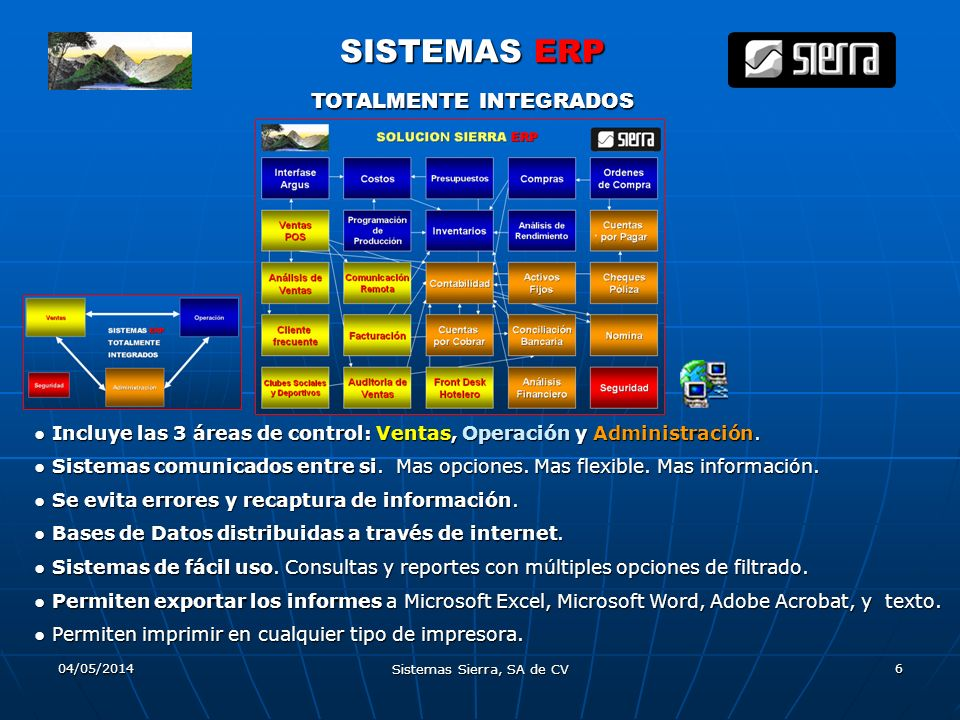 SISTEMAS ERP TOTALMENTE INTEGRADOS