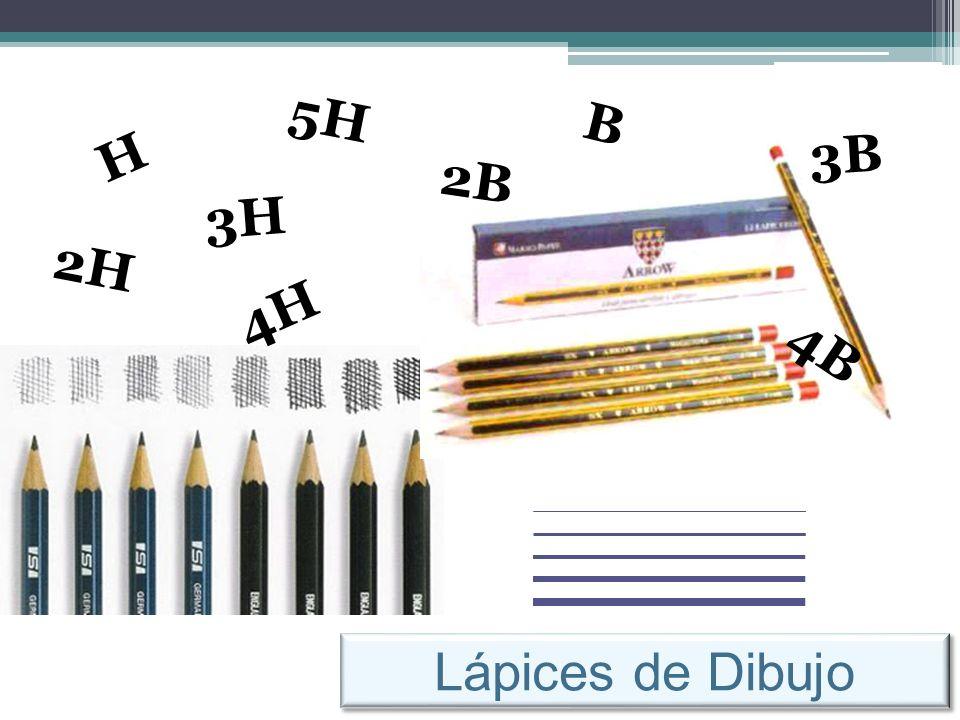 5H B H 3B 2B 3H 2H 4H 4B Lápices de Dibujo