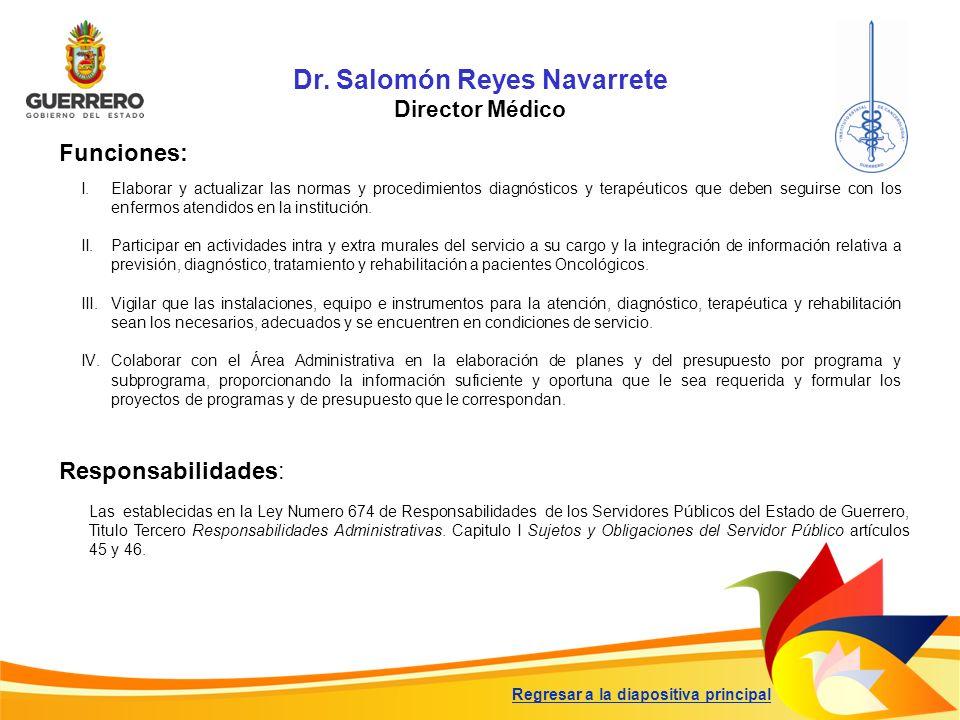 Dr. Salomón Reyes Navarrete