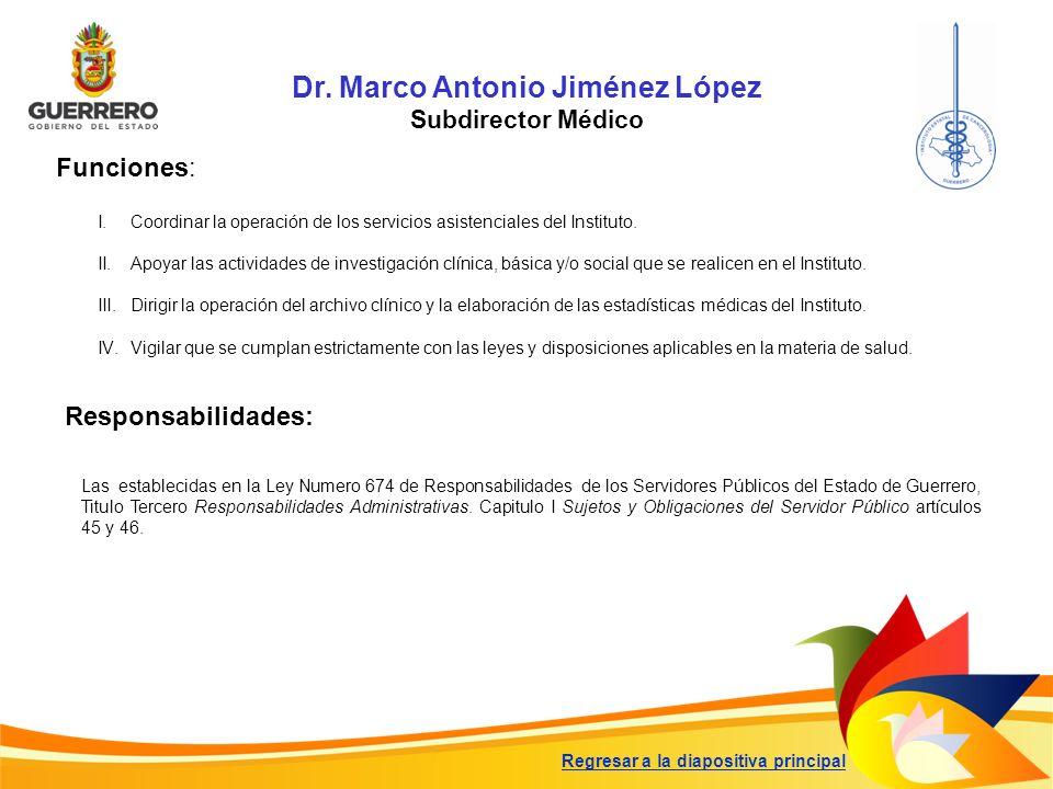 Dr. Marco Antonio Jiménez López