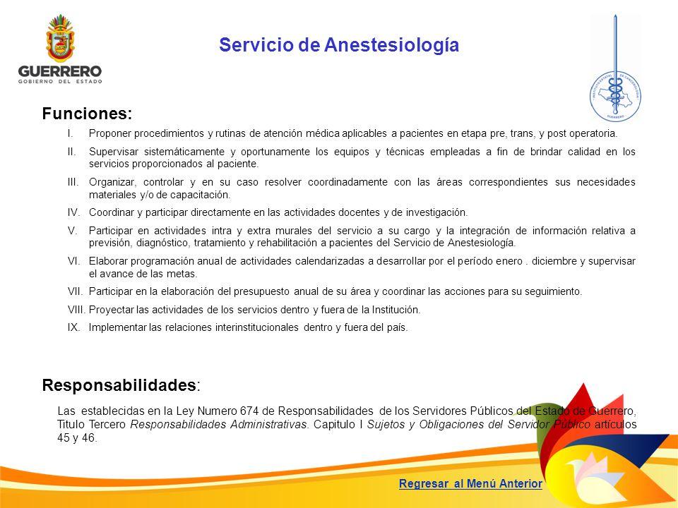 Servicio de Anestesiología
