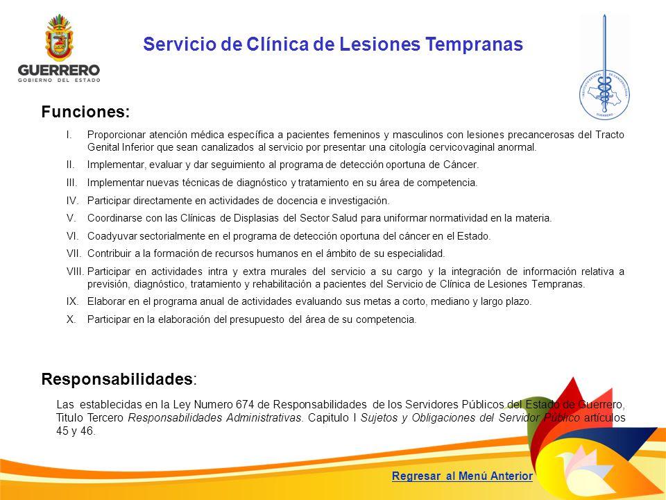 Servicio de Clínica de Lesiones Tempranas