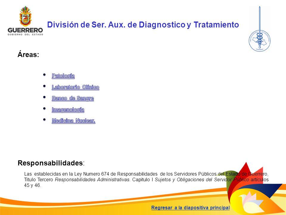 División de Ser. Aux. de Diagnostico y Tratamiento