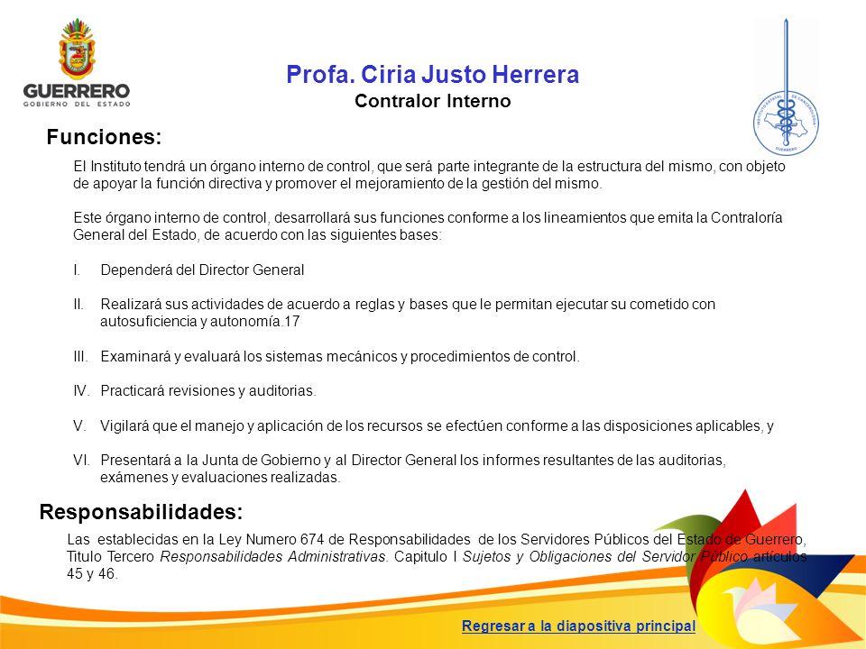 Profa. Ciria Justo Herrera