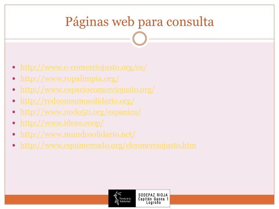 Páginas web para consulta