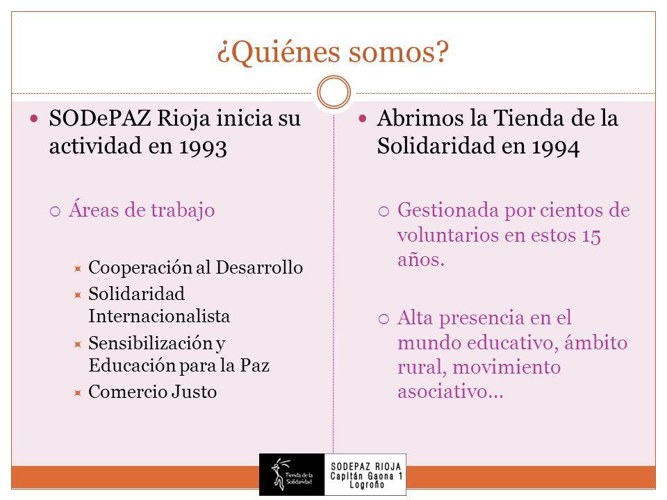 ¿Quiénes somos SODePAZ Rioja inicia su actividad en 1993
