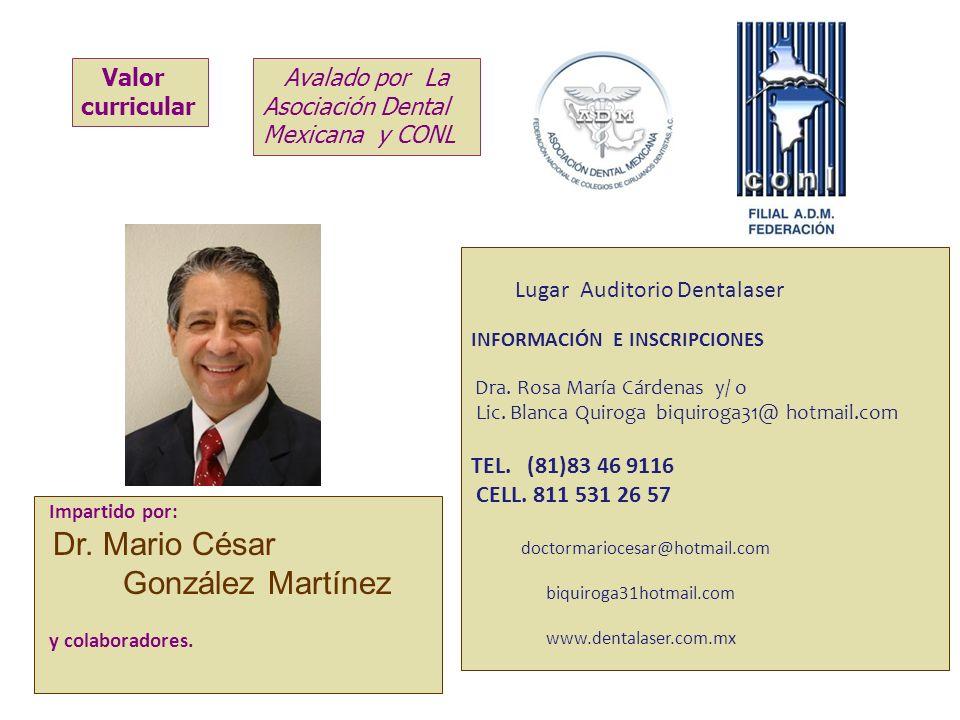 Dr. Mario César González Martínez Valor curricular