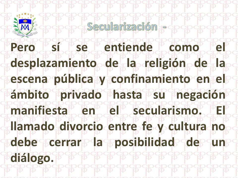 Secularización -