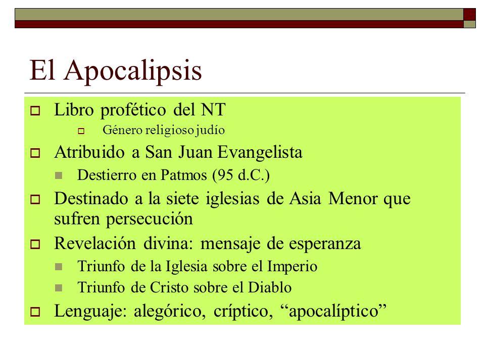 El Apocalipsis Libro profético del NT Atribuido a San Juan Evangelista