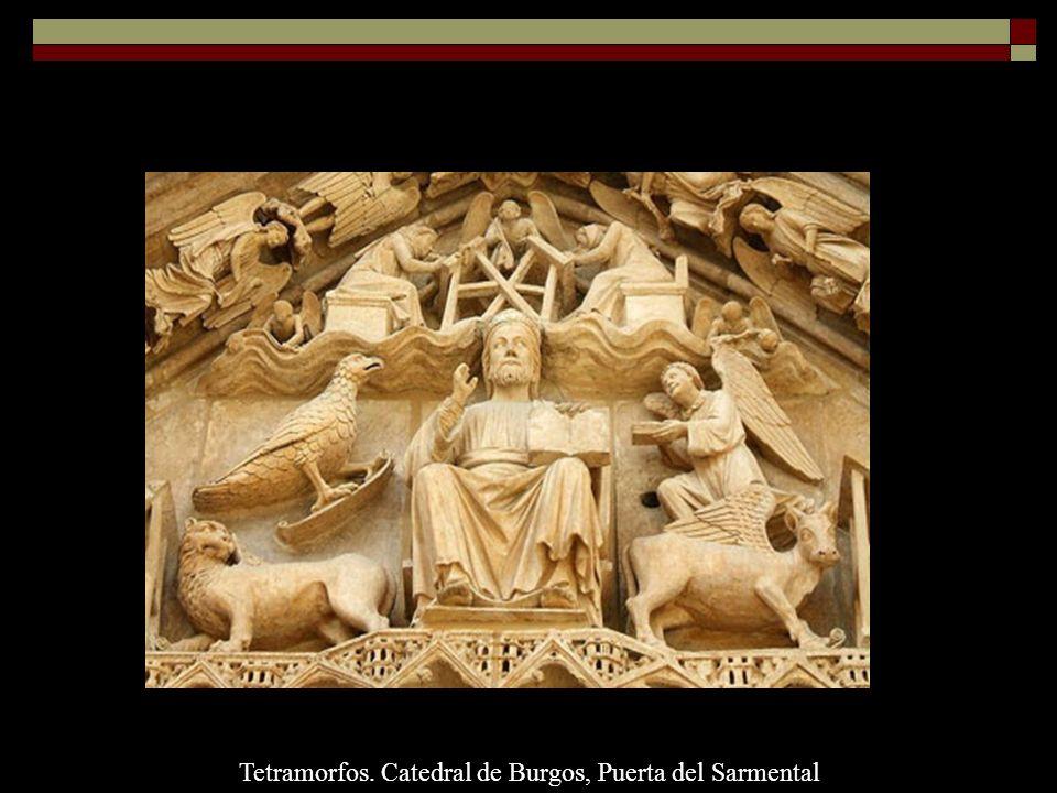 Tetramorfos. Catedral de Burgos, Puerta del Sarmental