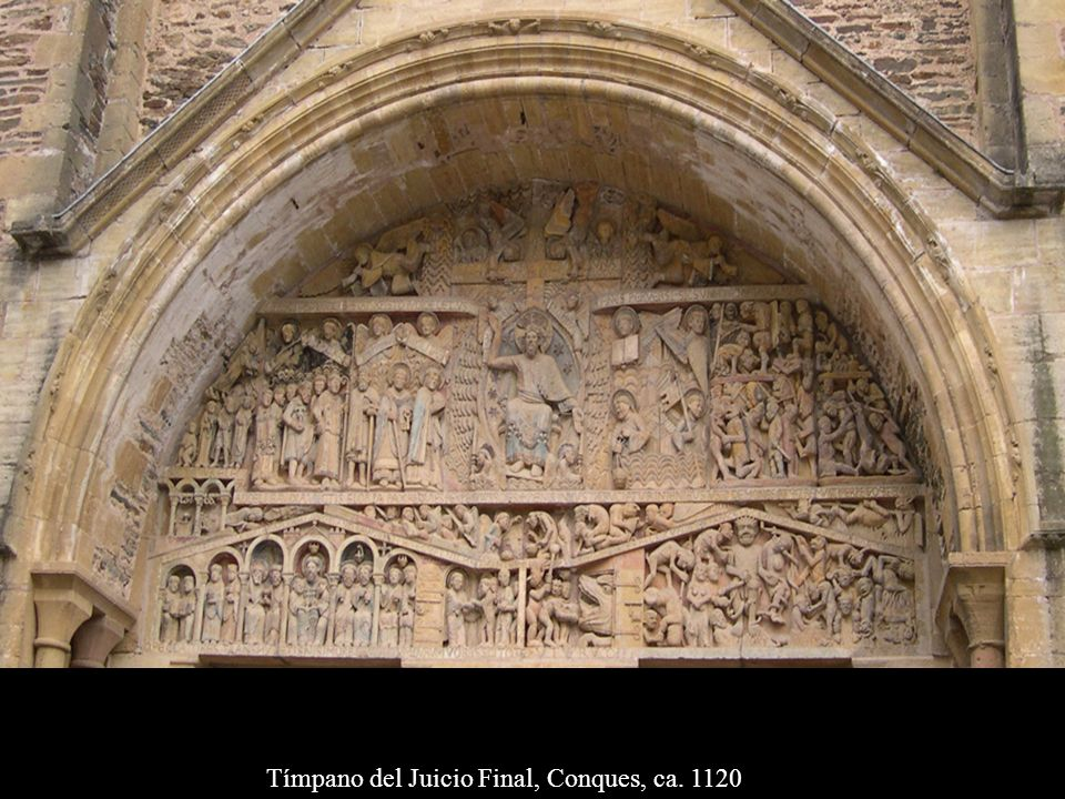 Tímpano del Juicio Final, Conques, ca. 1120