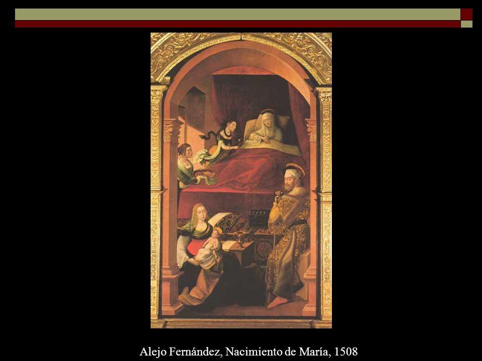 Alejo Fernández, Nacimiento de María, 1508