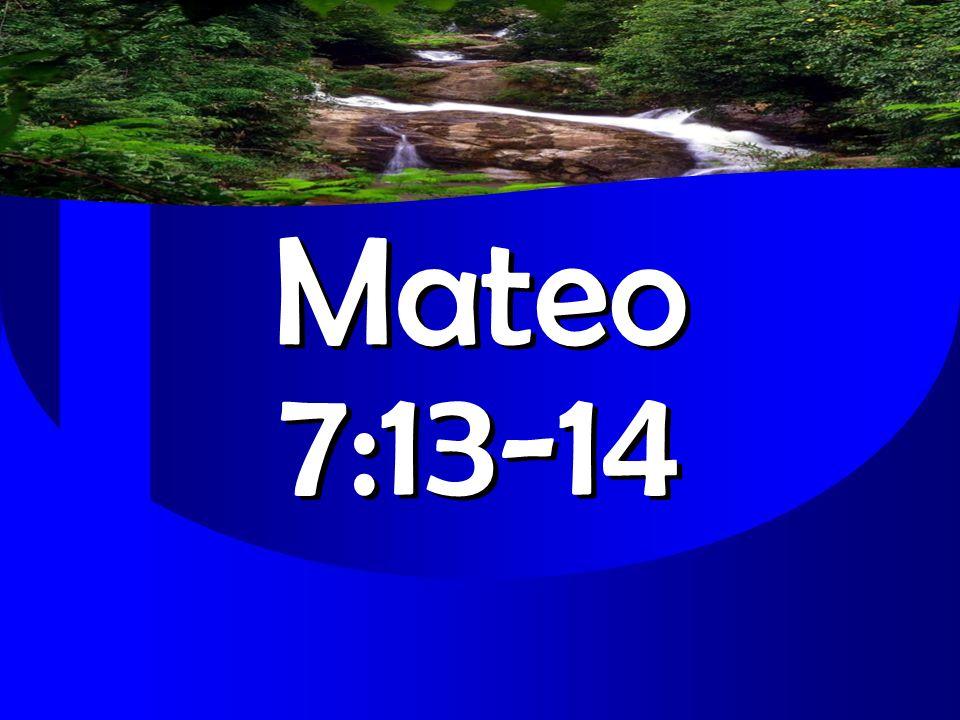 Mateo 7:13-14