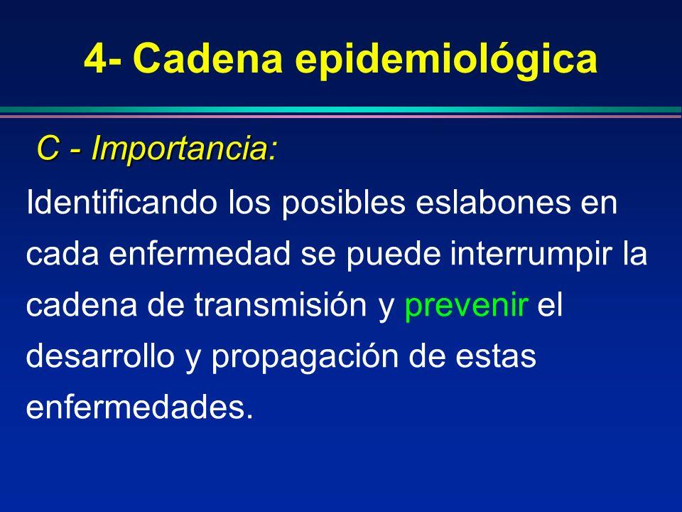 4- Cadena epidemiológica