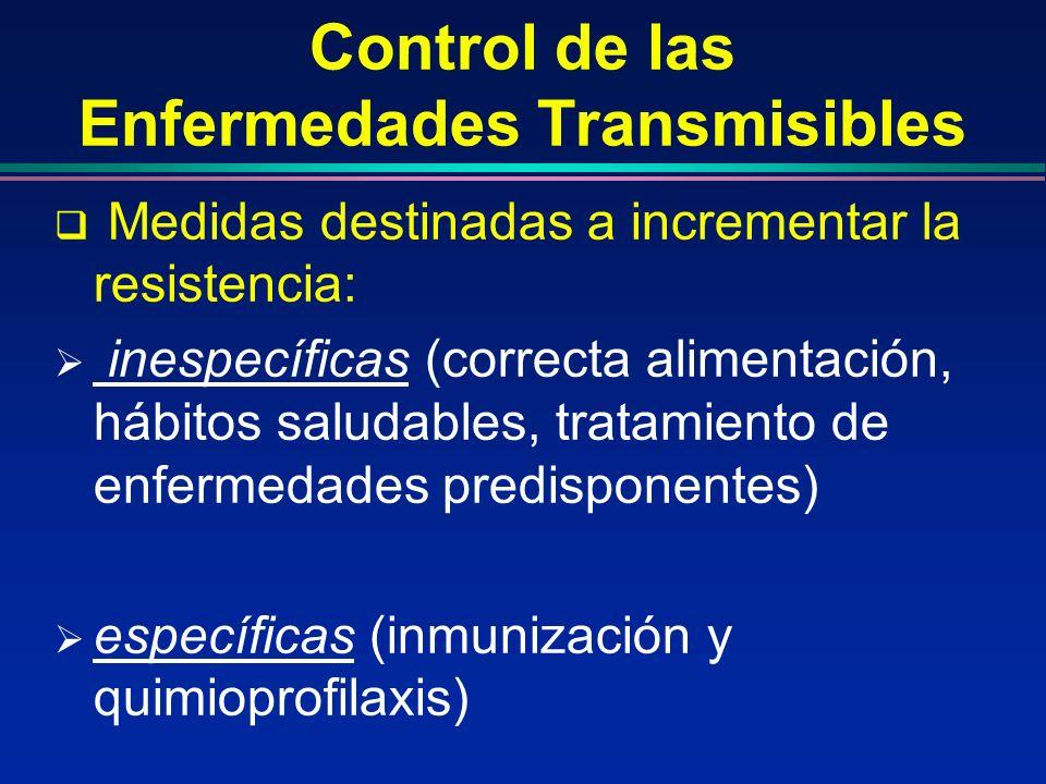 Control de las Enfermedades Transmisibles