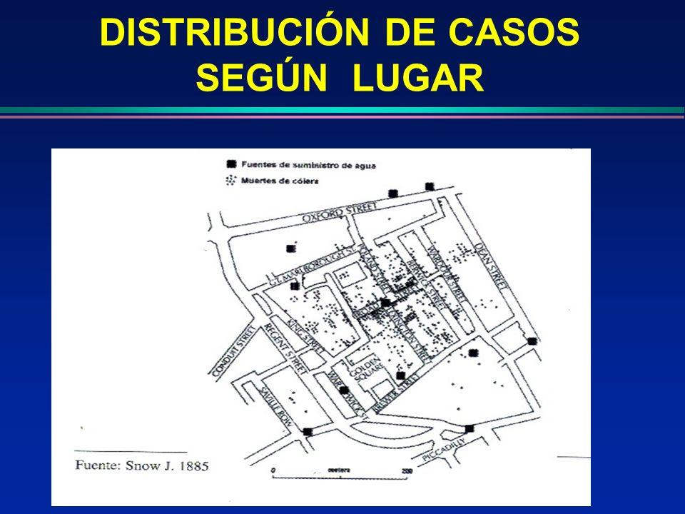 DISTRIBUCIÓN DE CASOS SEGÚN LUGAR