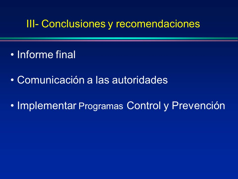 III- Conclusiones y recomendaciones