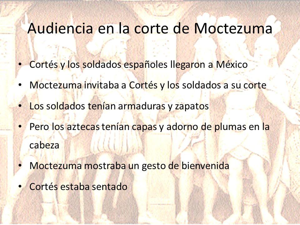 Audiencia en la corte de Moctezuma