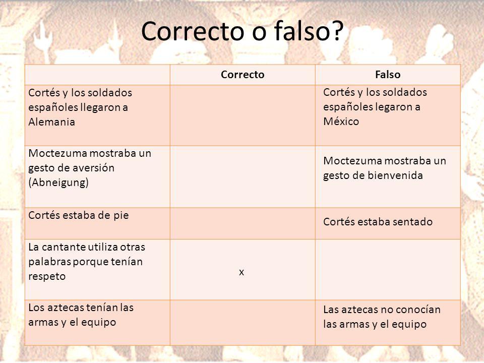 Correcto o falso Correcto Falso