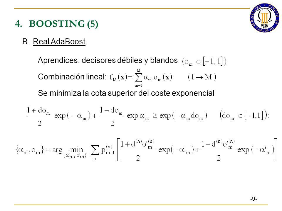 4. BOOSTING (5) B. Real AdaBoost