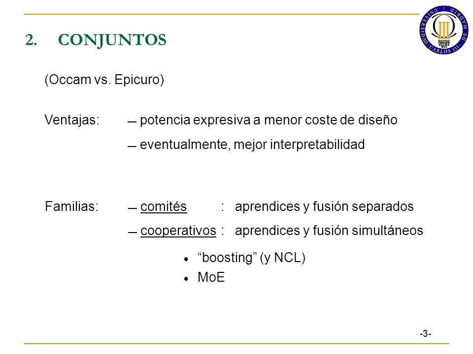 2. CONJUNTOS (Occam vs. Epicuro)