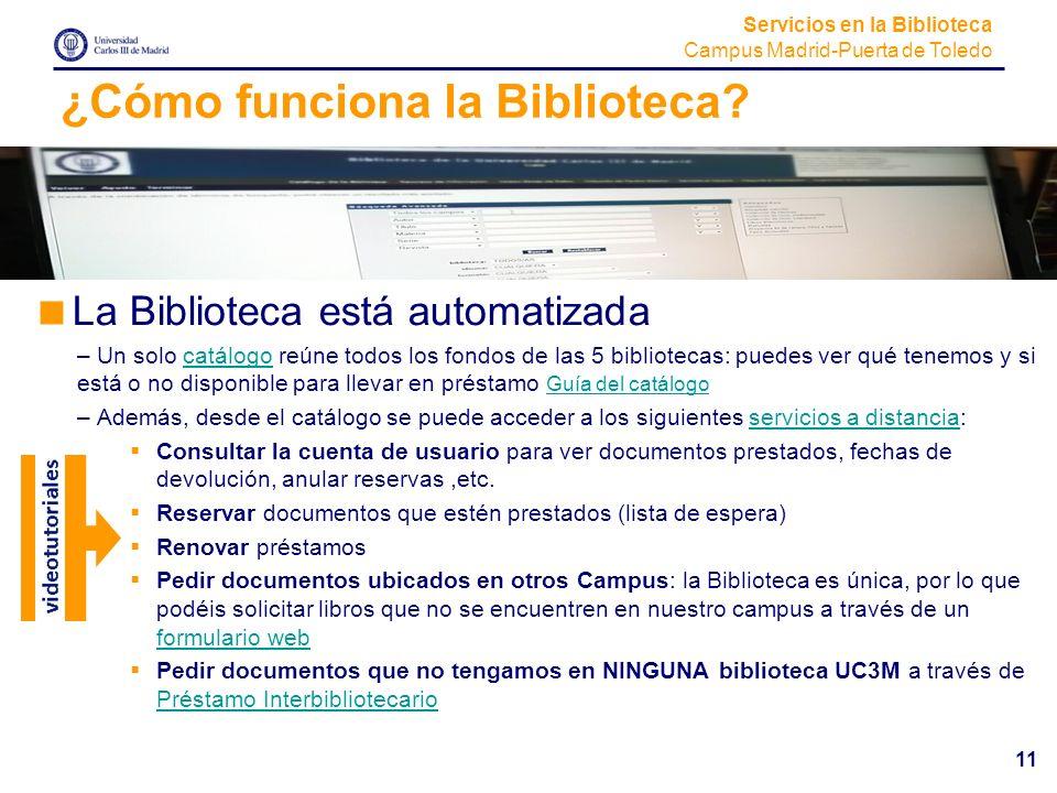 ¿Cómo funciona la Biblioteca
