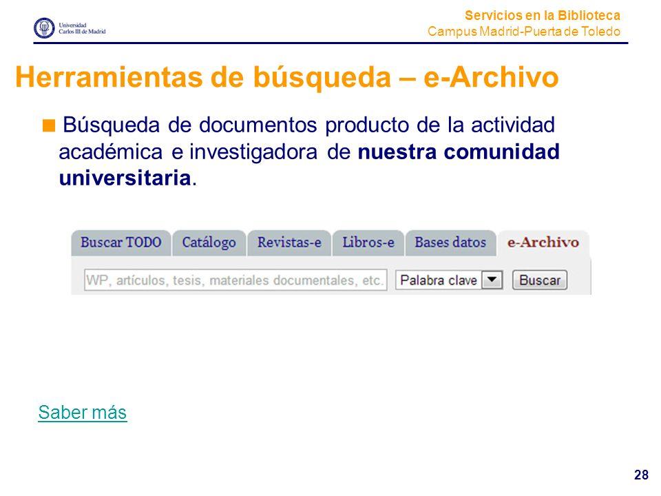 Herramientas de búsqueda – e-Archivo