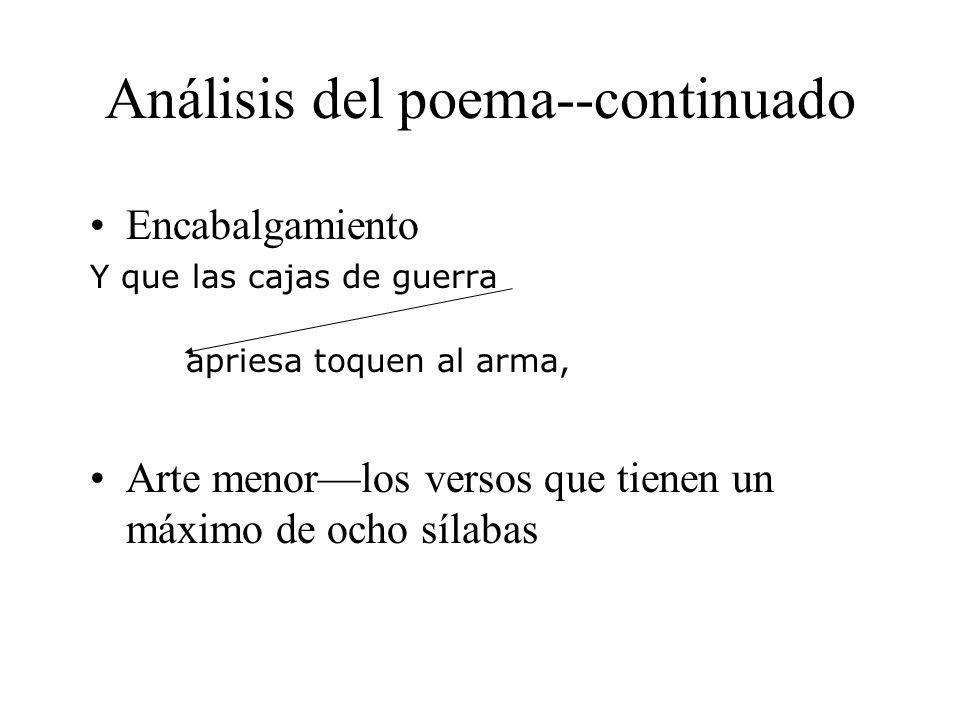 Análisis del poema--continuado