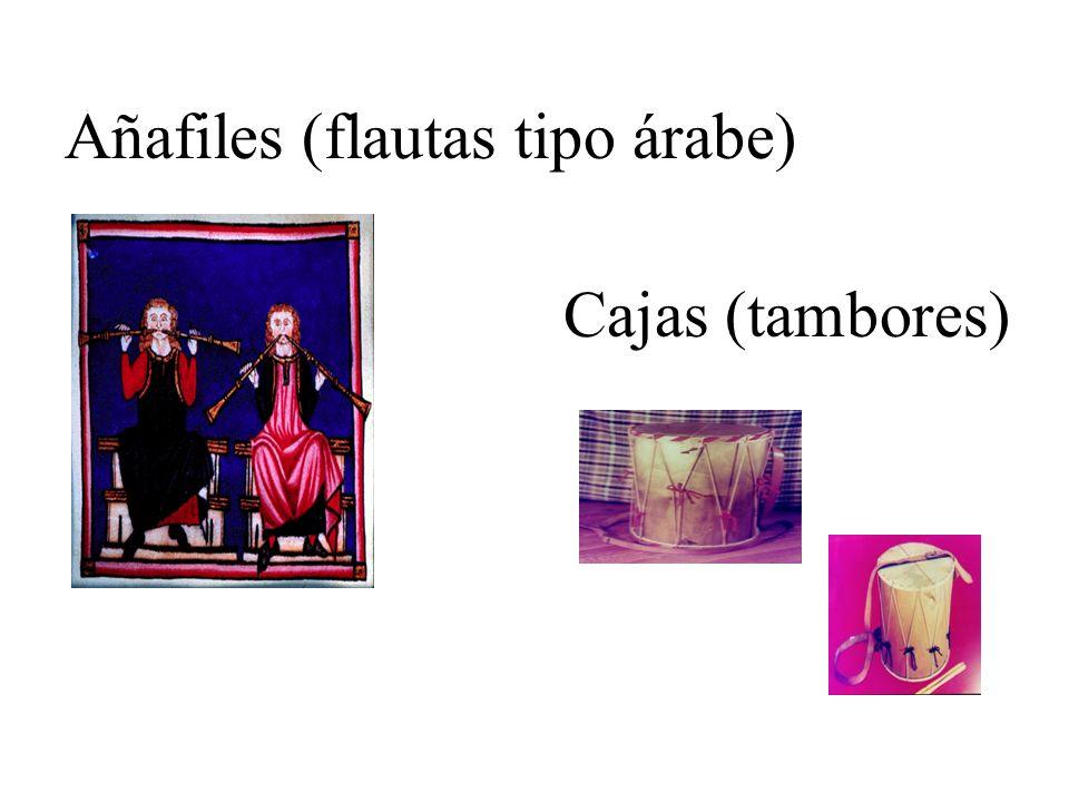 Añafiles (flautas tipo árabe)
