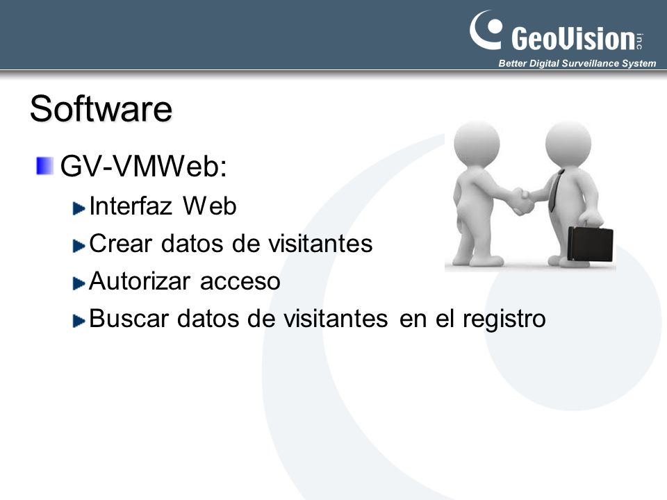 Software GV-VMWeb: Interfaz Web Crear datos de visitantes