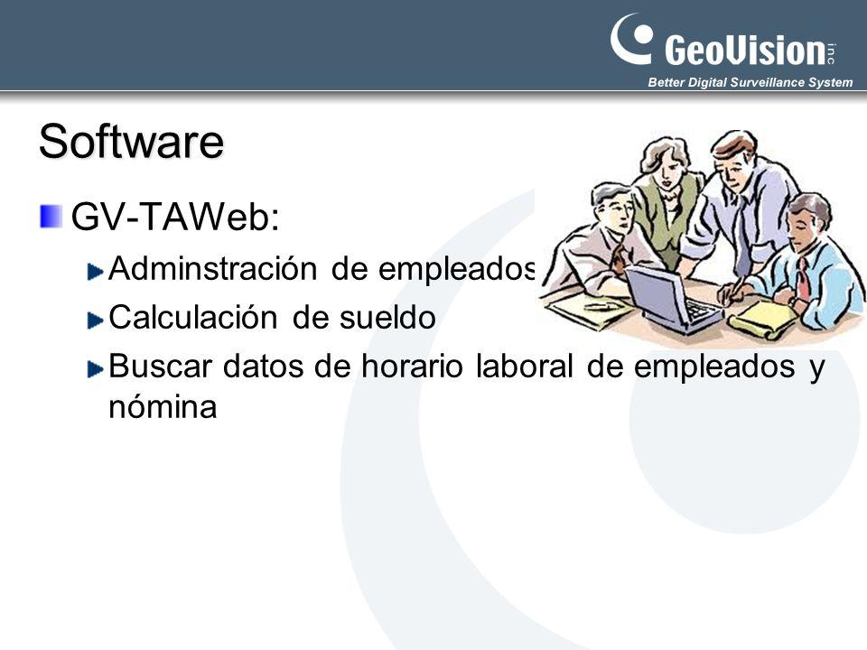Software GV-TAWeb: Adminstración de empleados Calculación de sueldo