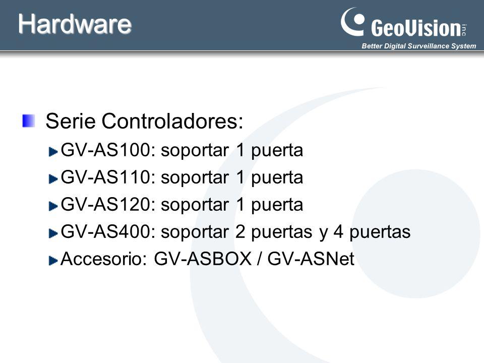 Hardware Serie Controladores: GV-AS100: soportar 1 puerta