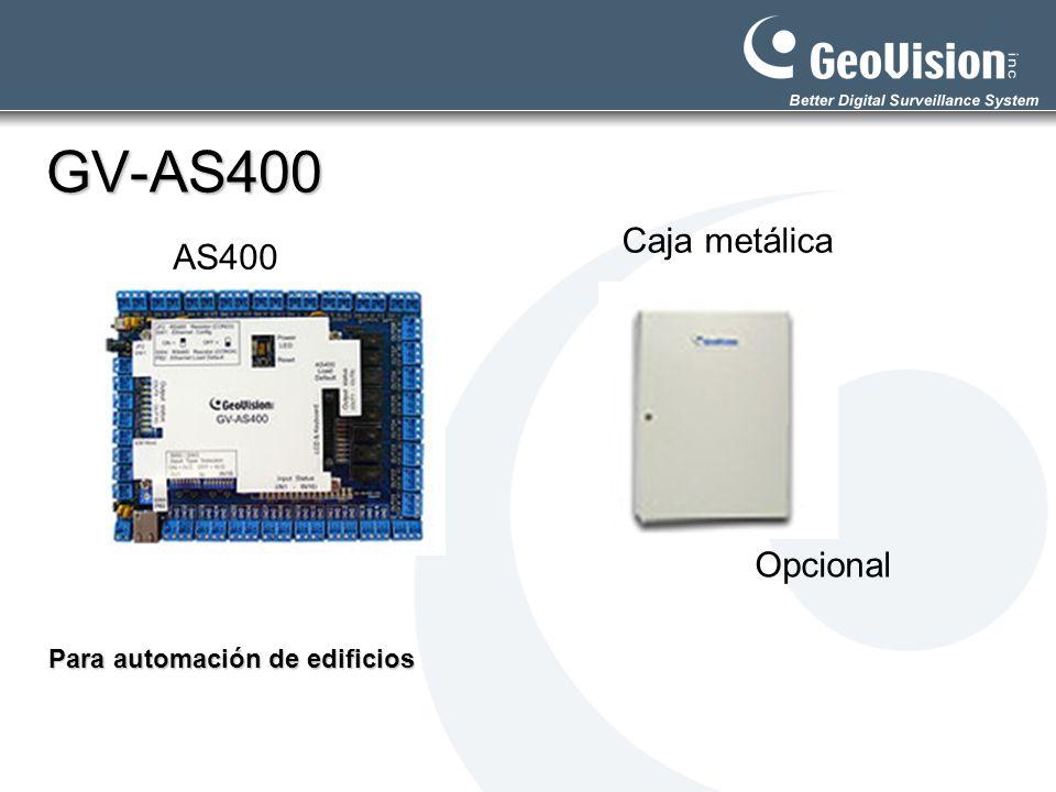 GV-AS400 Caja metálica AS400 Opcional Para automación de edificios