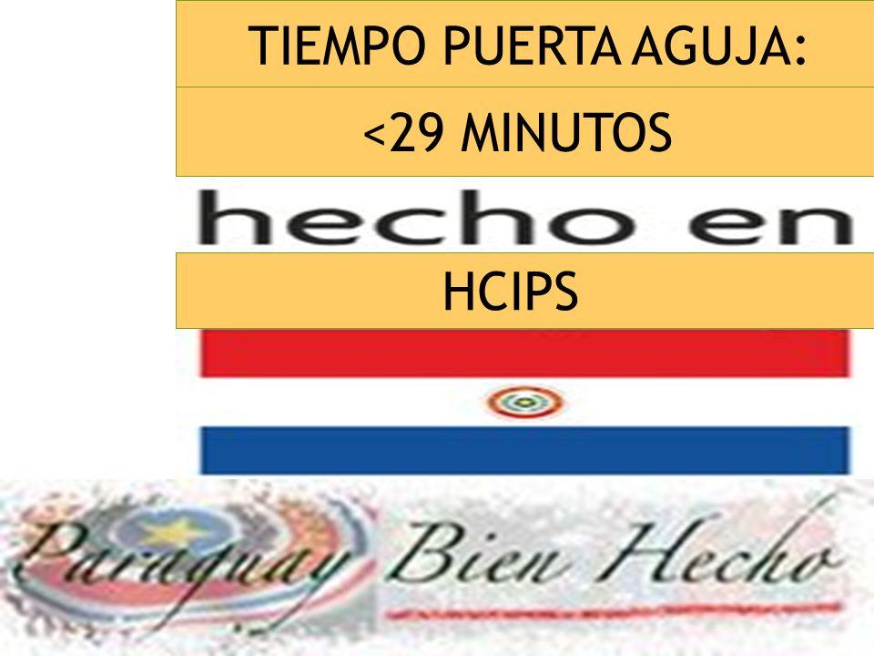 TIEMPO PUERTA AGUJA: <29 MINUTOS HCIPS