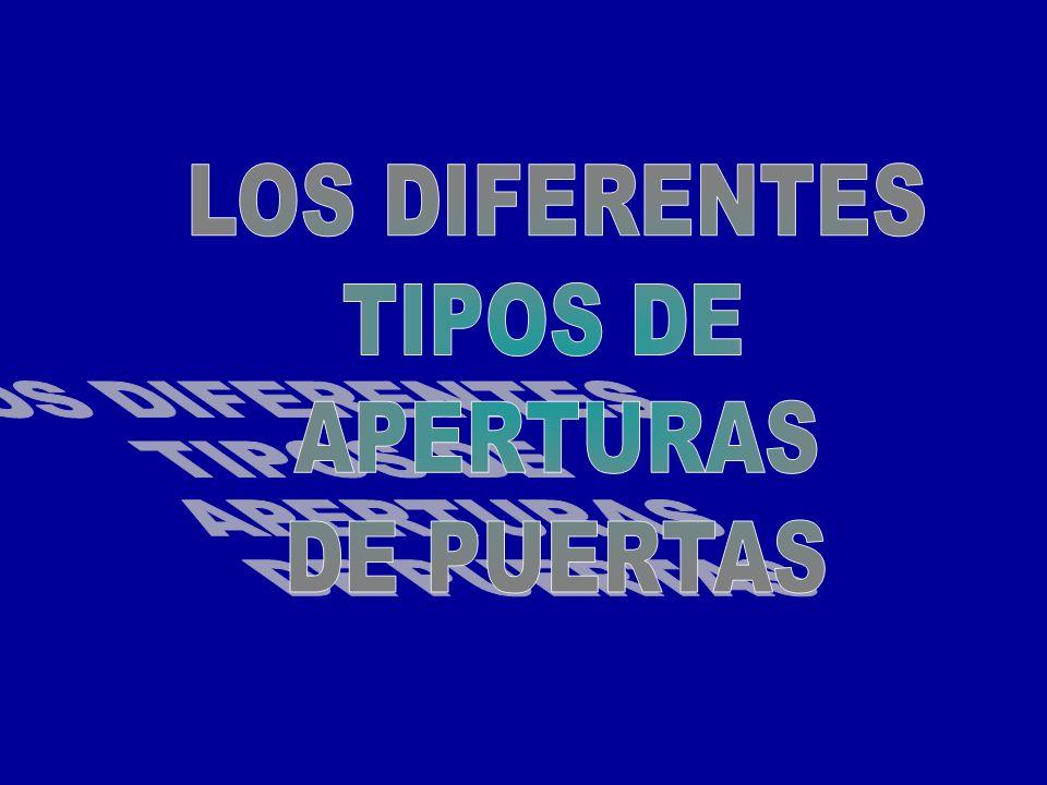 LOS DIFERENTES TIPOS DE APERTURAS DE PUERTAS