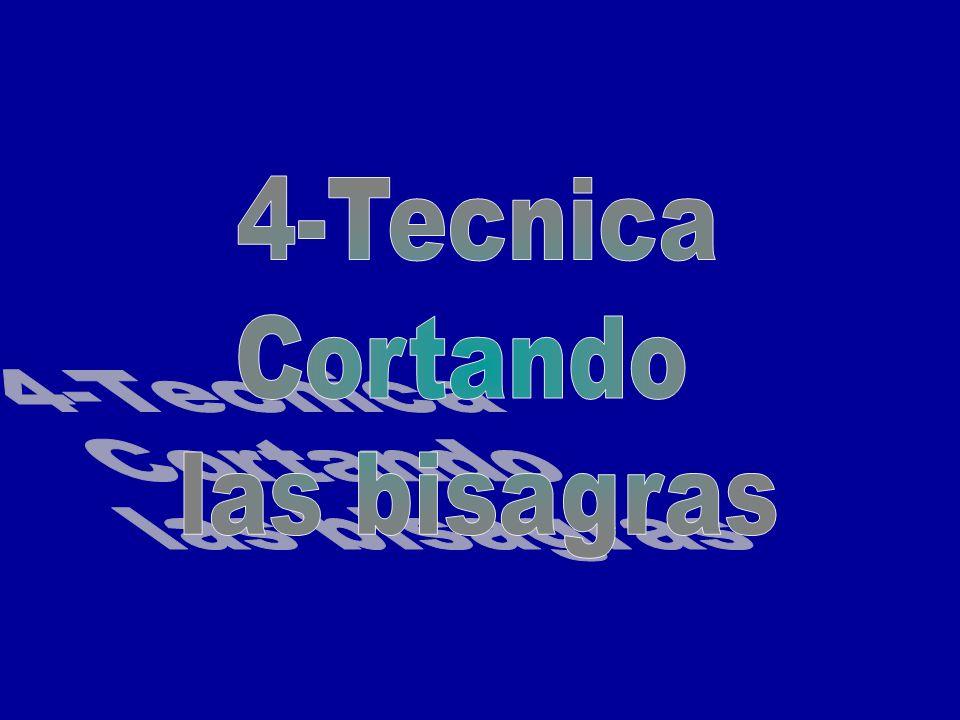 4-Tecnica Cortando las bisagras