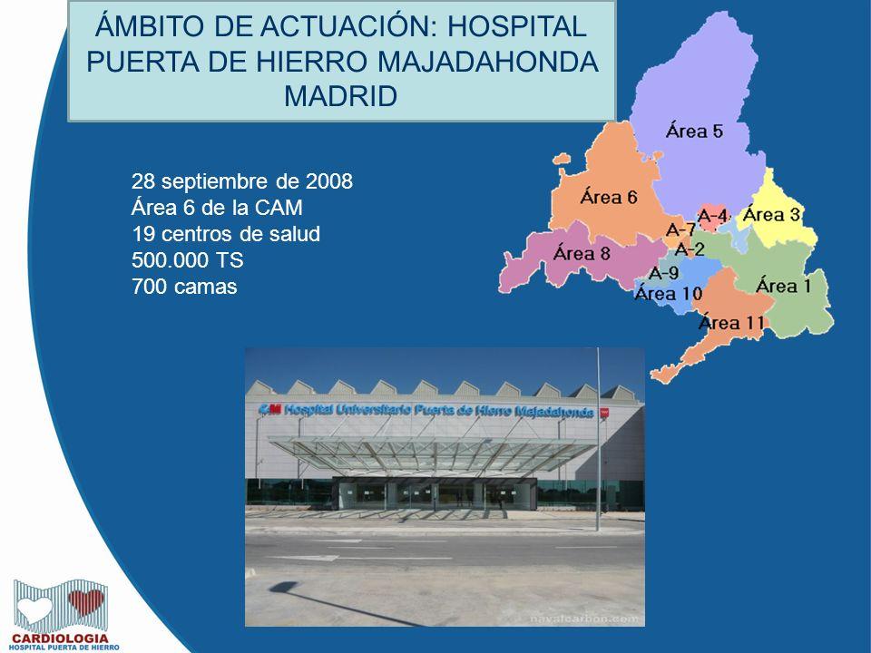 ÁMBITO DE ACTUACIÓN: HOSPITAL PUERTA DE HIERRO MAJADAHONDA MADRID