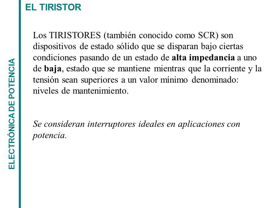 Se consideran interruptores ideales en aplicaciones con potencia.