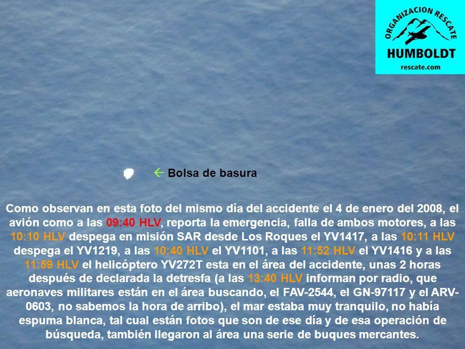 HIPÓTESIS DE COMO SALIO EL COPILOTO DEL YV2081