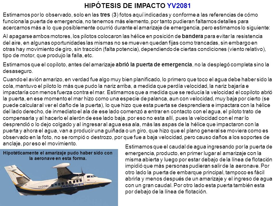 HIPÓTESIS DE IMPACTO YV2081