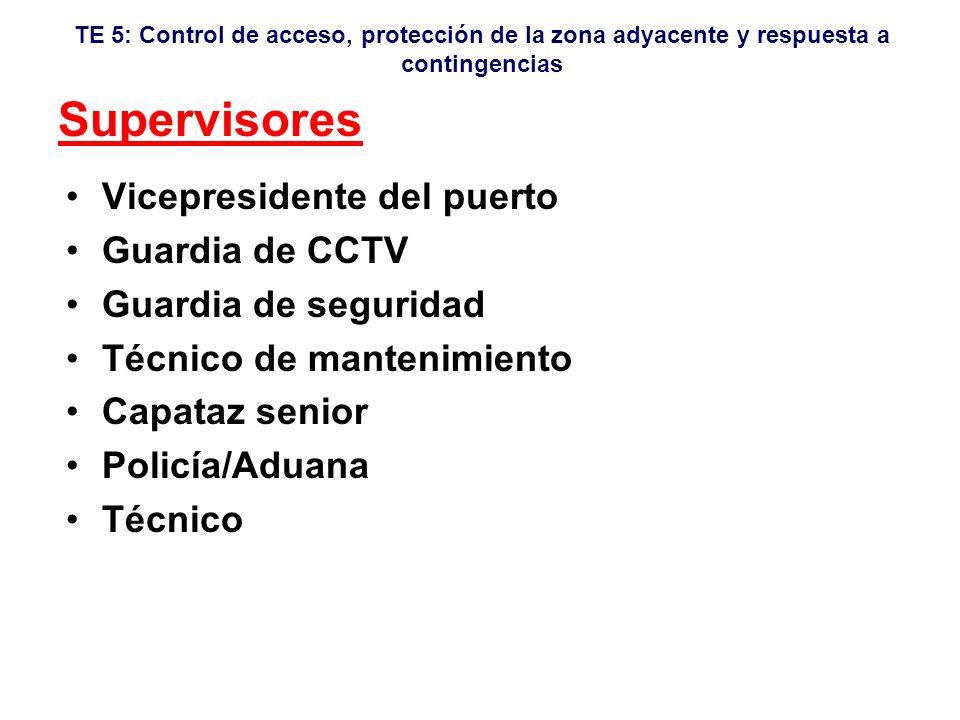 Supervisores Vicepresidente del puerto Guardia de CCTV