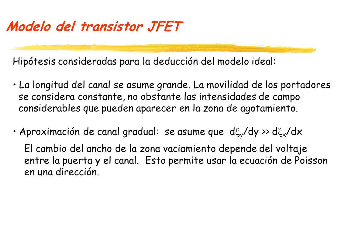 Modelo del transistor JFET