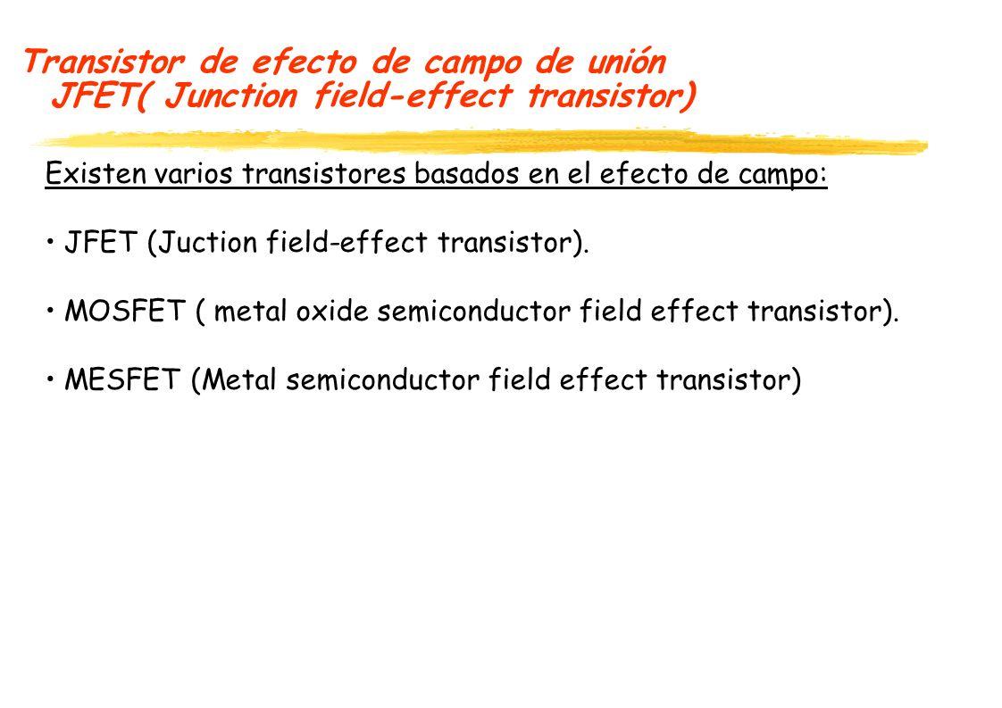 Transistor de efecto de campo de unión JFET( Junction field-effect transistor)