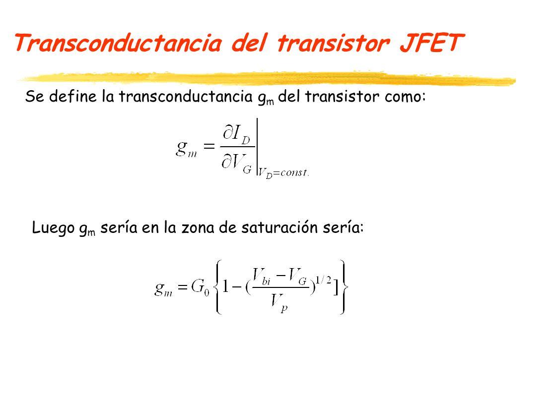 Transconductancia del transistor JFET