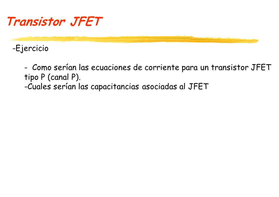 Transistor JFET Ejercicio
