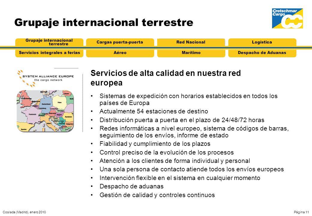 Servicios de alta calidad en nuestra red europea