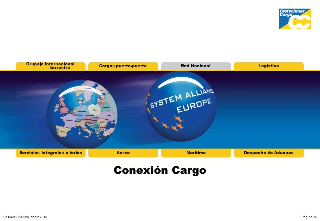 Conexión Cargo Grupaje internacional terrestre Cargas puerta-puerta
