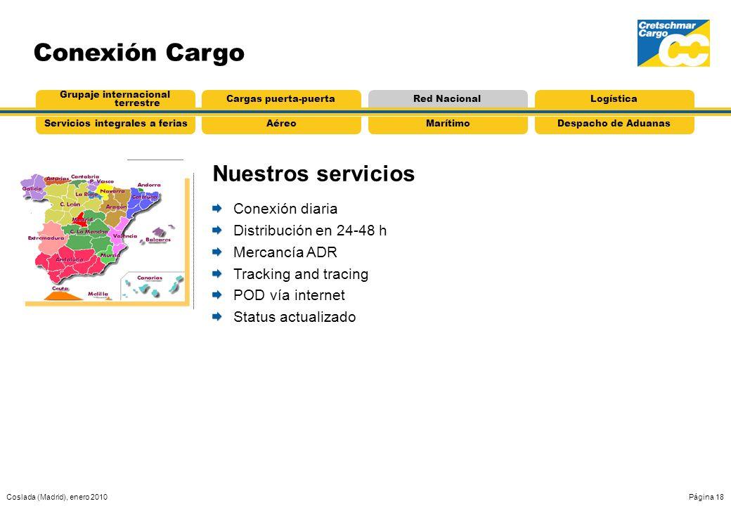Conexión Cargo Nuestros servicios Conexión diaria