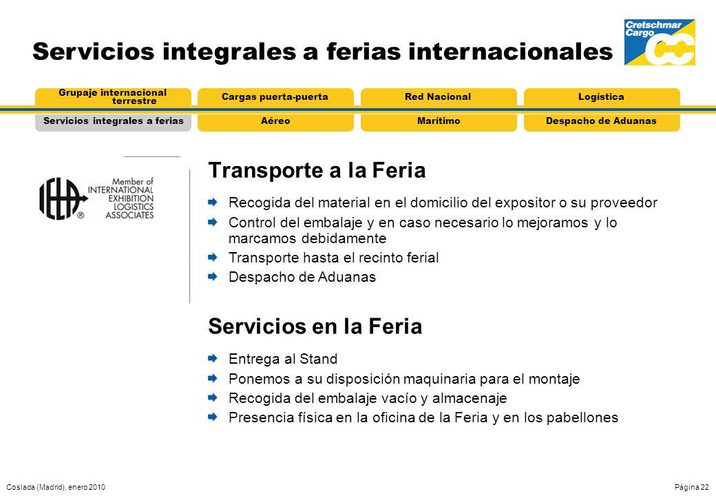 Servicios integrales a ferias internacionales